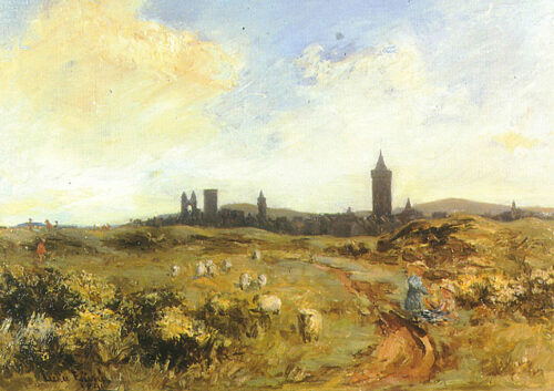 """""""St Andrews from the Links"""" (1891) by Leckie Ewing"""